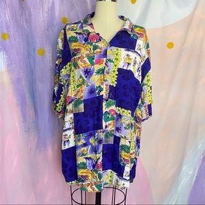 JAMS WORLD Vintage 1990s Hawaiian Button Up Shirt